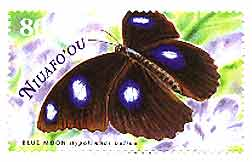 Butterfly stamp from Niuafo'ou