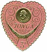 A stamp from Tonga, the friendly islands